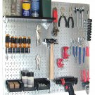 Steel Pegboard Tools Garage Organizer Board Bin Hanger Panel Storage Wall New