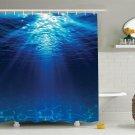 Shower Curtain Ocean Beach Underwater Nautical Nature Bathroom Decor Gift New