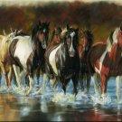 "Horse Cutting Board Rush Hour Kitchen 16x12x3"" Home Decor Western Animal New"