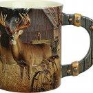 Coffee Cup Mug Deer Farm Rustic Wildlife 15oz Hunting Gift Him Her Rustic New