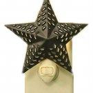 Night Light Star Barn Home Rustic Decor Black Metal Home Primitive Gift New