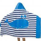 Beach Bath Towel Hooded Kids Toddler Ultra Absorbent Whale Poncho Boy Girl New