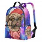 "Kids Backpack Pug Puppy Dog Animal School Travel Book Bag Girl 14.8"" Organizer"