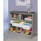 Storage Bin Unit Furniture Shelves Kids Nursery Toys Organizer Grey Gray New
