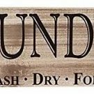 Wall Sign Laundry Room Rustic Farmhouse Decor Distressed Home Wash Dry Fold New