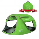 ZOMAKE Pop Up Tent 4 Person, Beach Sun Shelter for Baby with UV Green