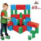 Building Block Toys Cardboard Jumbo Giant Big 40 Pc Kids Toddler Boy Girl New