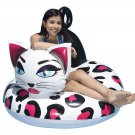 "Cat Kitten Pool Float Inner Tube Raft 48"" Water Swim Beach Kids Adult Girl New"