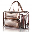 Toiletry Bag Cosmetic Clear Rose Gold 5 in 1 Makeup Travel Storage Organizer New