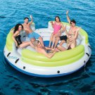 Water Island Pool Float Raft Inflatable Cup Holders Lounge Beach Lake Fun New