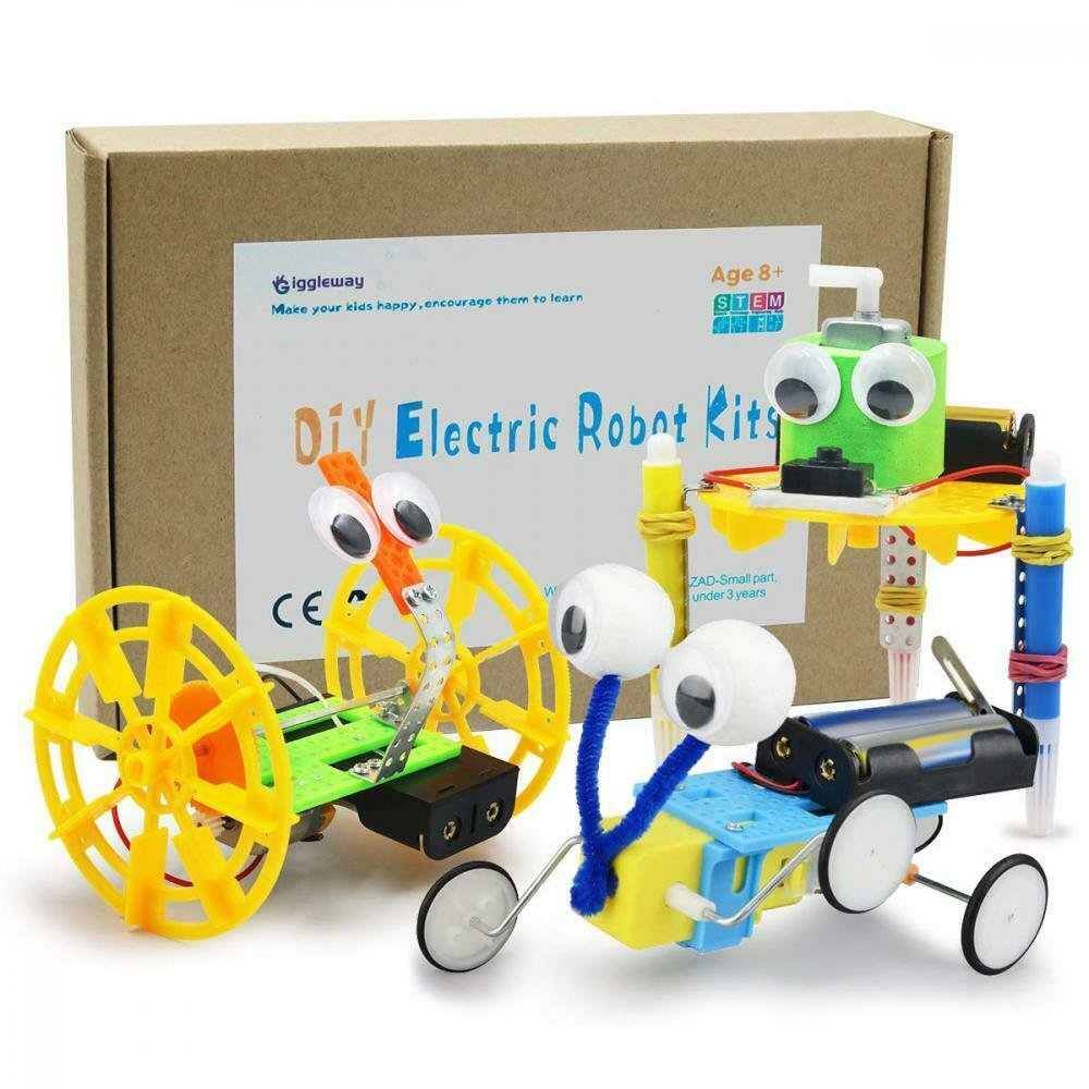 Kids STEM Toy Balance Car Reptile Robot Doodling Science Experiment Learn New
