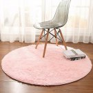 Area Rug Carpet Round Anti Skid Soft Thick Pink Girl Room Nursery 4 Ft Gift New
