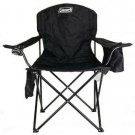 Camp Quad Chair Furniture Beach Outdoor Armrest 4 Can Cooler Pouch Black New