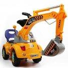 Kids Ride On Digger Excavator Truck Pretend Boys Toddler Gift Lights Music New