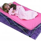 Cot Portable Bed Folds Toddler Travel Kids Camping Pink Tent Indoor Outdoor New