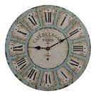 Old Oak 16-Inch Vintage Large Decorative Wall Clock Silent Non-Ticking Round...