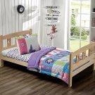 Toddler Bedding Set Butterfly Purple Pink Girl 3 Piece Kids Comforter Sheet New