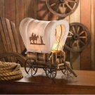 Table Lamp Western Wagon Rustic Home Decor Horse Bedroom Office Man Cave New