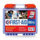 First Aid Kit 100 Piece Home Office Vehicle Travel Camp Hiking Emergency New