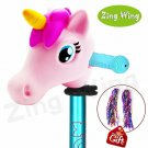 Kids Scooter Accessories Unicorn Horse Head Toddler Girl Gift Toy Pink New