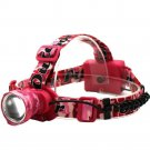 Headlamp Flashlight LED Ultra Bright Water Resistant Pink Camo Gift Her New