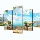 Wall Art Canvas Ocean Nautical Garden Modern Decor Home 5 Panel Gift Bedroom New