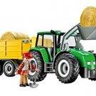 Kids Playmobil Tractor Trailer Toy Play Set Pretend Farm Hay Shovel Boy Gift New