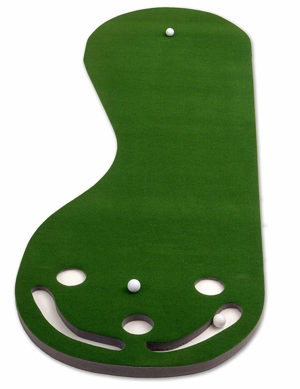 Three Putting Green  Par Putt A Bout 9' x 3' Golf Mat Practice Training New
