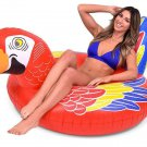 Pool Float Raft Parrot Bird Water Beach Toy Inner Tube Inflatable Kids Adult New