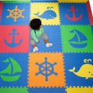 SoftTiles Kids & Baby Foam Playmat- Blue, Red, Orange, Yellow, and Lime
