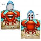Kids Beach Bath Towel Crab Hooded Poncho Toddler Swim Boy Girl Gift Pool New