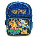 """Pokemon Backpack Kids School Travel Book Bag Blue Boy Gift 16"""" Full Size NEW"""