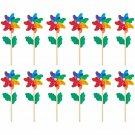 Pinwheels Set 12 Indoor Outdoor Yard Party Garden Decor Kids Easter Spring New