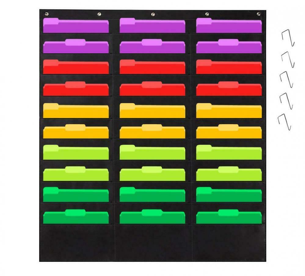 Godery Organization Pocket Chart�Wall File Folder Organizer 30