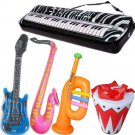 Inflatable Rock Star Toy Set 5 Play Party Favor Water Beach Pool Music New