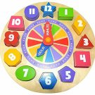 Kids Learn Toy Shape Sorting Clock Wooden Educational Color Preschool Gift New