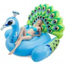 Inflatable Peacock Pool Float Raft Tube Kids Adult Water Beach Toy Boy Girl New