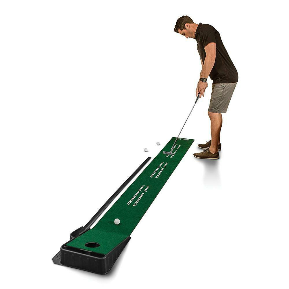"""Putting Green With Ball Return Indoor Golf 9Ft x 16.25"""" Training Practice New"""