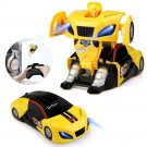 Kids Remote Control Robot Car Wall Climbing Rotating LED Light RC Toy Kids New