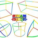 Kids Straw Connector Building Set Toys 200 Pc Activity STEM Boy Girl Gift New