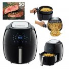 Air Fryer Electric XL 8 In 1 5.8 Quart 50 Recipes Book Baking Grill Roast New