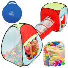 Kiddey 3pc. Kids Ball Pit With 200 Balls, See Through Play Tent Tunnel...