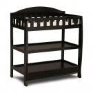 Delta Children Infant Changing Table with Pad, Black, Black