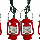 Mini Lantern Novelty String Light Set Rivers Edge 10 ' Indoor Outdoor Decor New