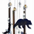 """Wind Chime Bear Moose Eagle Cabin Lodge Decor Rustic 28"""" Indoor Outdoor Gift NEW"""