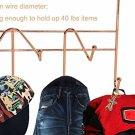 Over Door Rack Hook Rose Gold Organizer Storage Coat Towel Robes Home Decor New