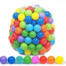 Playz 500 Soft Plastic Mini Play Balls with 8 Vibrant Colors - Crush 500