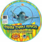 Swim Thru Rings Pool Water Toys Sports Kids Set Pack 3 Collapsible Gift New