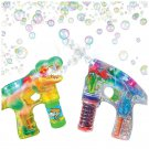 Bubble Guns Blow LED Dinosaur Light Up Sounds Kids Toddler Outdoor Toy Gift New