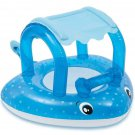 Baby Pool Float Ride On Toy Raft Inflatable Beach Water Outdoor Gift Canopy New